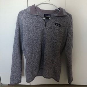 Small Light Purple Patagonia Fleece Quarter Zip